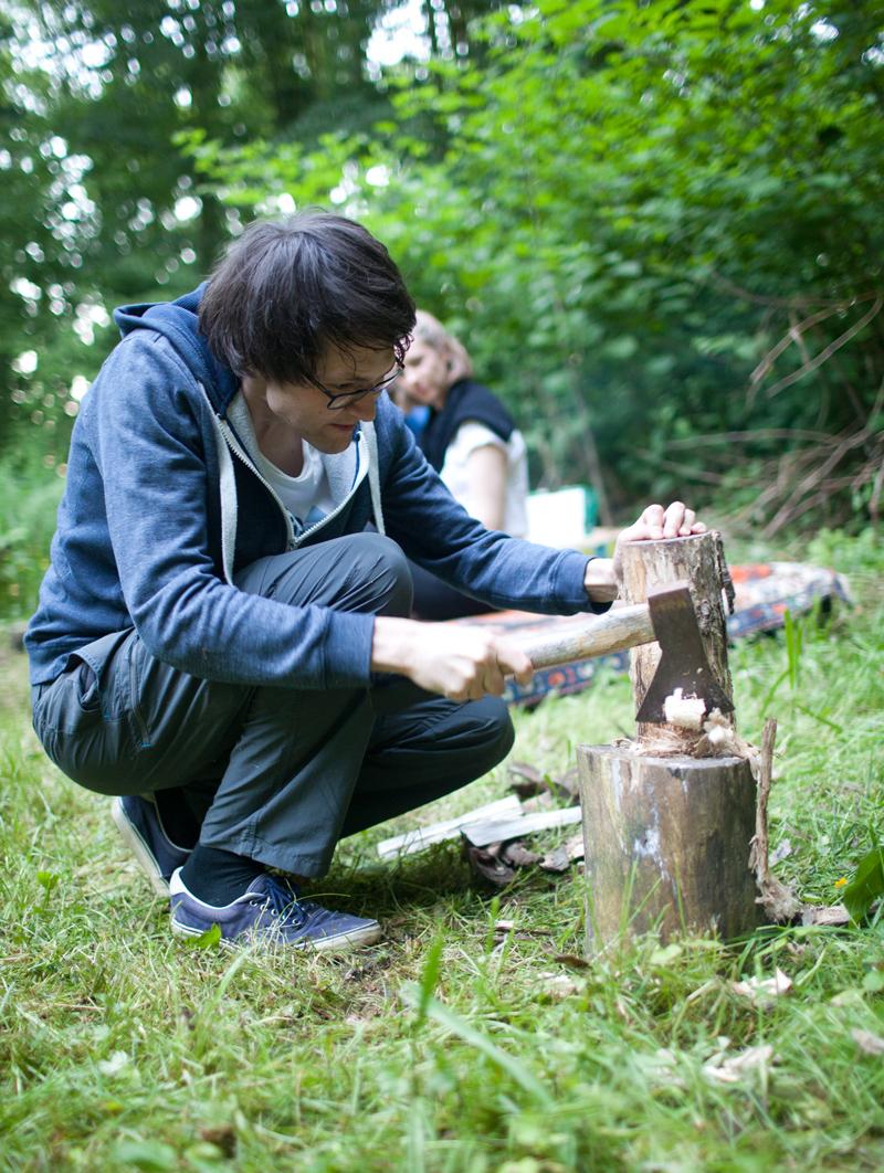 Wickenburghse bos - hout hakken - Werfzeep