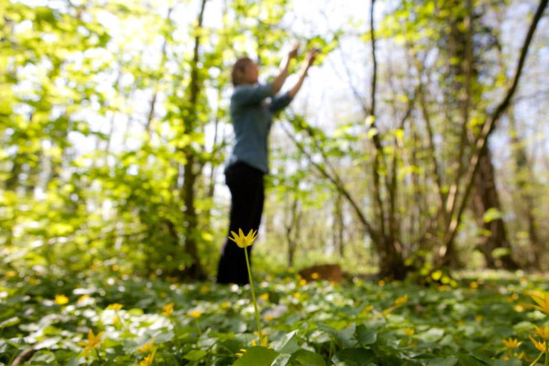 Evelien in het bos- bosoogst op Wickenburgh - Werfzeep