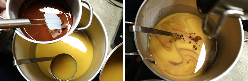 Chocoladeswirl zeep maken - Werfzeep