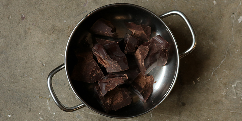 Cacaomassa - chocoladeswirl zeep maken - Werfzeep