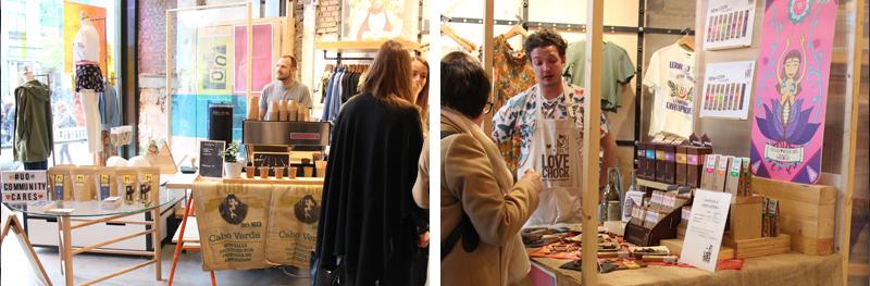 Bocca koffie en Lovechock chocola in Urban Outfitters Utrecht.