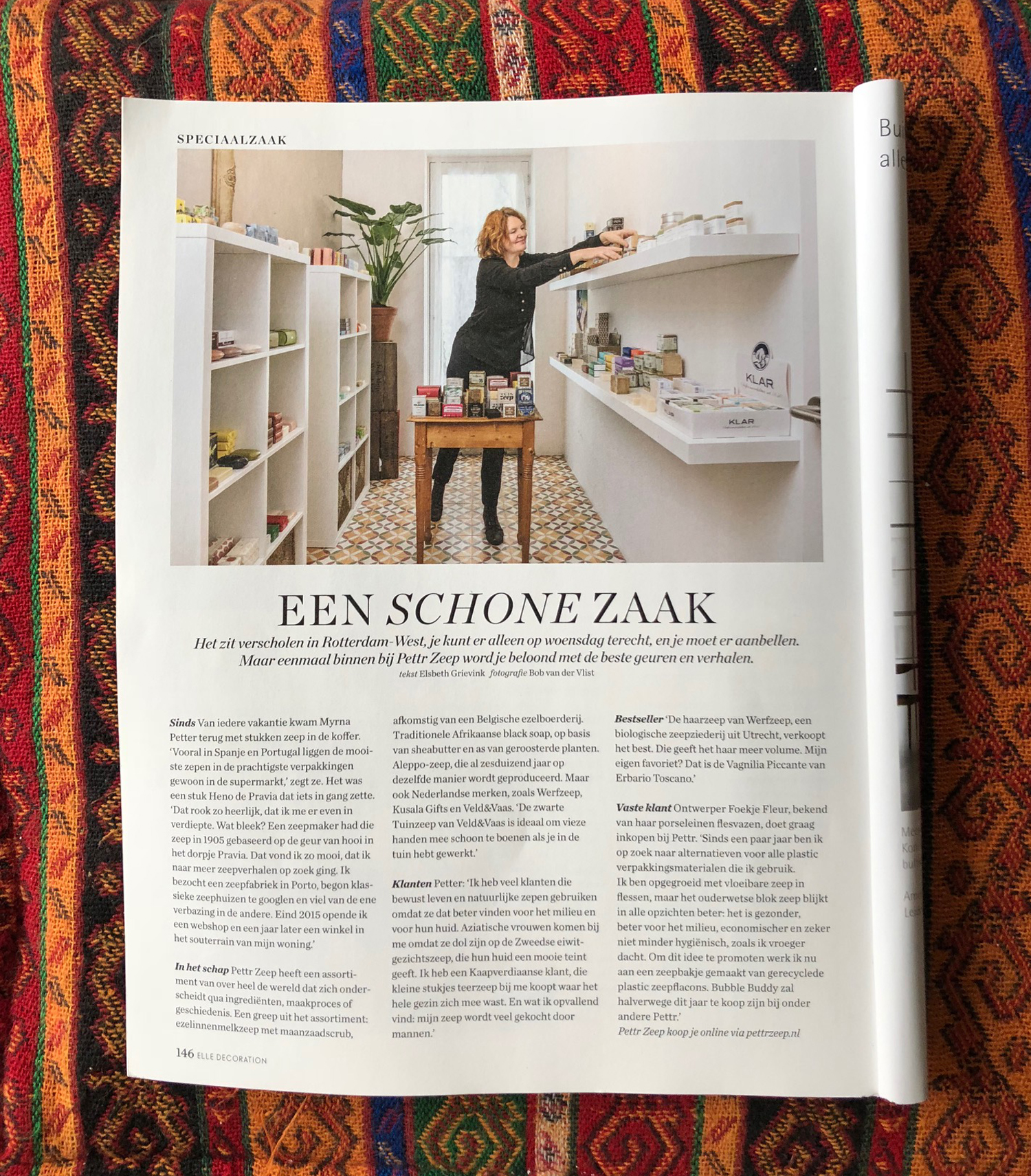 Zeep in ELLE Decoration nr 2 van 2018 - Werfzeep