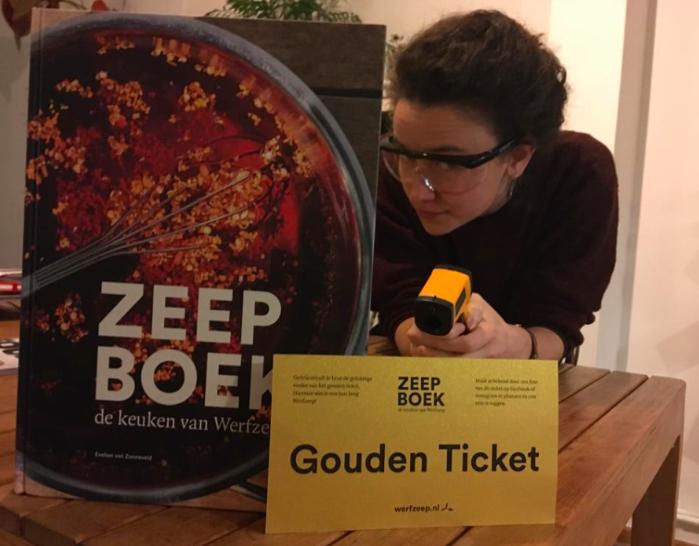 Werfzeep gouden ticket Zeepboek