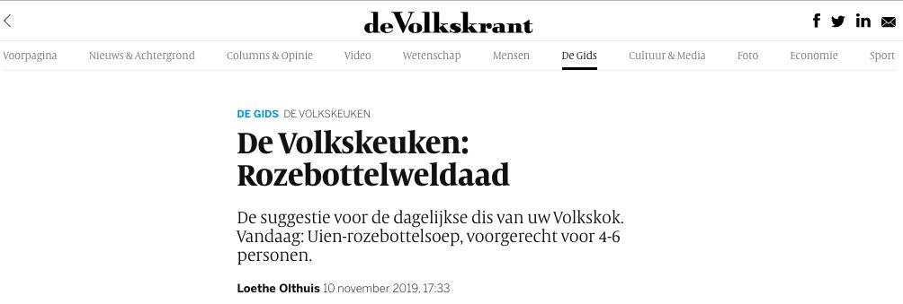Loethe Olthuis de Volkskrant - De Volkskeuken - Werfzeep