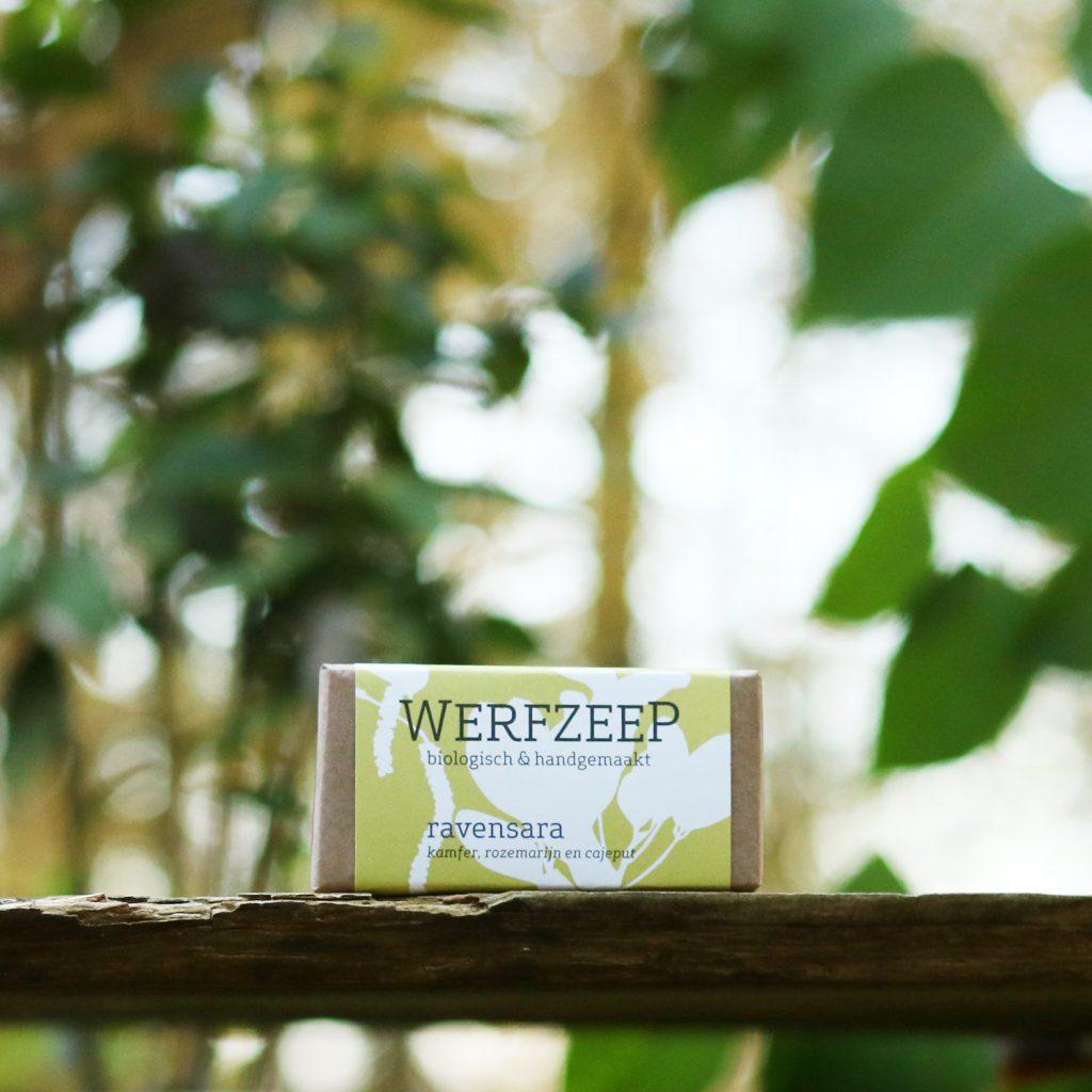ravensara - biologische zeep met food grade etherische oliën - Werfzeep