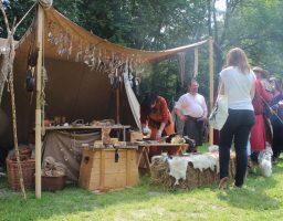 Werfzeep op Keltfest - Dordrecht, re-enactment Viking tijdperk