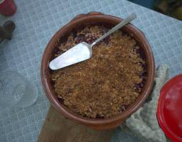 Werfzeep wildplukwandeling vegan bramencrumble recept